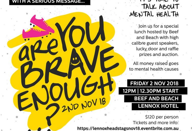 Are you brave enough…? Mental health lunch 2018